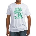 St. Patricks Day Leprechaun Kiss My Fitted T-Shirt