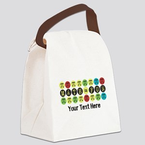 Customize Math = Fun Canvas Lunch Bag
