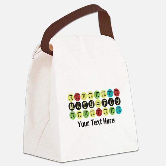 Customize Math = Fun Canvas Lunch Bag
