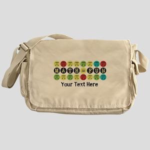 Customize Math = Fun Messenger Bag