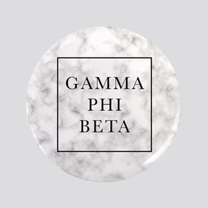 "Gamma Phi Beta Marble 3.5"" Button"