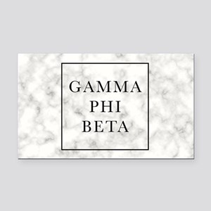 Gamma Phi Beta Marble Rectangle Car Magnet