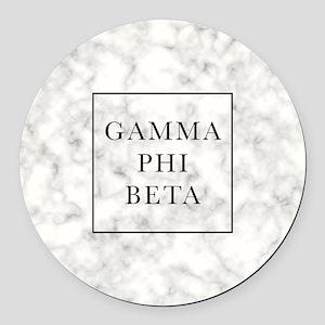 Gamma Phi Beta Marble Round Car Magnet