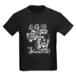 St. Patricks Day Leprechaun Kiss Kids Dark T-Shirt