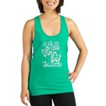 St. Patricks Day Leprechaun Kis Racerback Tank Top