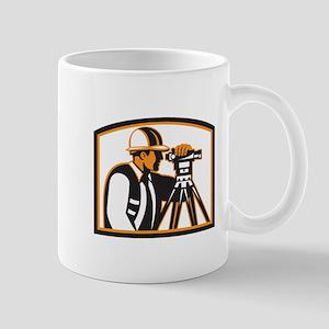 Surveyor Geodetic Engineer Survey Theodolite Mugs