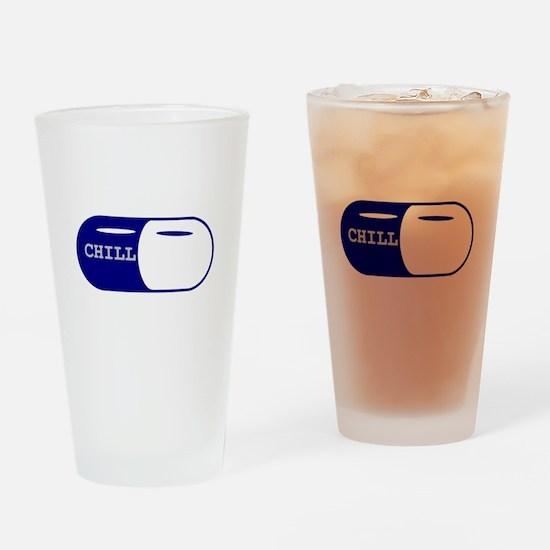 Chill Pill Drinking Glass