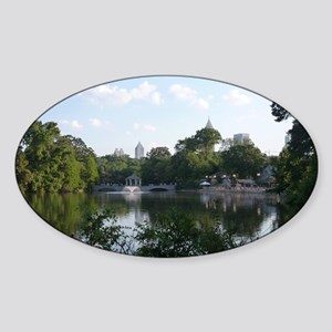 Atlanta Piedmont Park City Lake and Sticker (Oval)