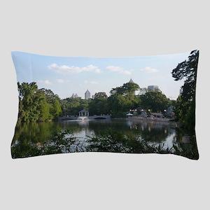 Atlanta Piedmont Park City Lake and Sk Pillow Case