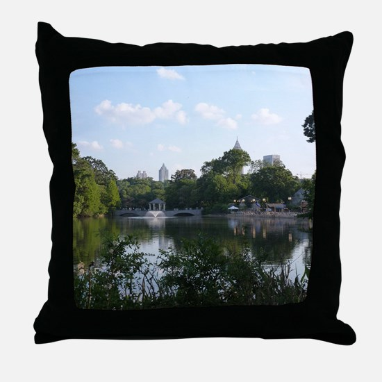 Atlanta Piedmont Park City Lake and S Throw Pillow