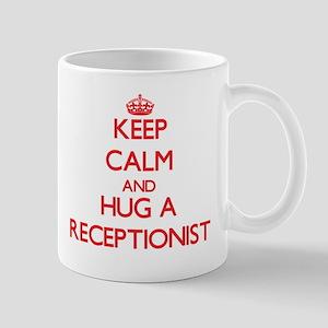 Keep Calm and Hug a Receptionist Mugs