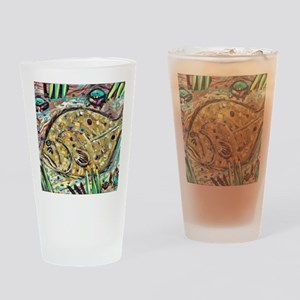 Funky Flounder Drinking Glass