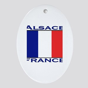 Alsace, France Oval Ornament