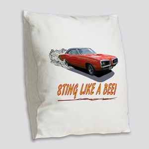 STING LIKE A BEE! Burlap Throw Pillow