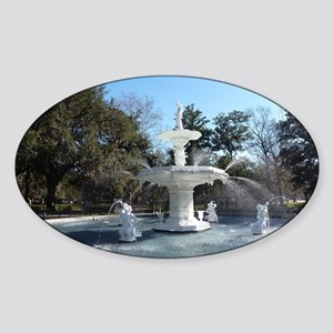 Forsyth Park Fountain Savannah Geor Sticker (Oval)