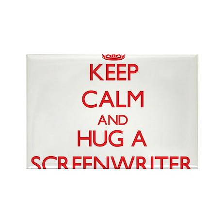 Keep Calm and Hug a Screenwriter Magnets