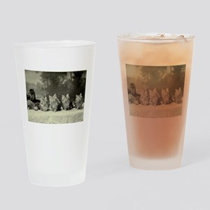 A Gang of Poachers Drinking Glass