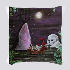 Marooned Woven Throw Pillow