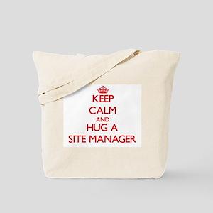 Keep Calm and Hug a Site Manager Tote Bag