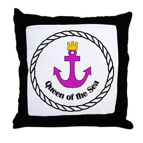Queen of the Sea Gifts Throw Pillow