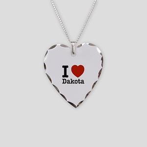 I love Dakota Necklace Heart Charm