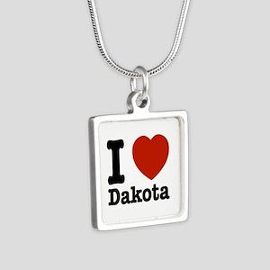 I love Dakota Silver Square Necklace