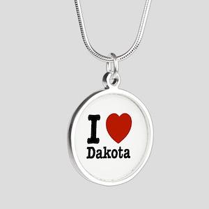 I love Dakota Silver Round Necklace