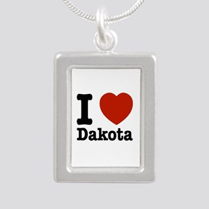 I love Dakota Silver Portrait Necklace