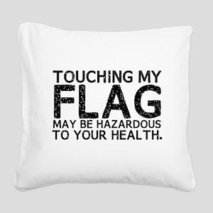 Colorguard Hazard Square Canvas Pillow