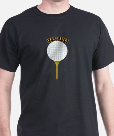Golf Tee-Time with Text T-Shirt