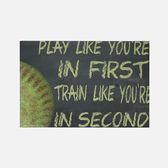 In First Fastpitch Softball Motivational Magnets