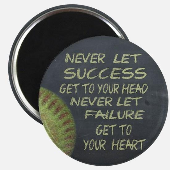 Success Fastpitch Softball Motivational Magnet