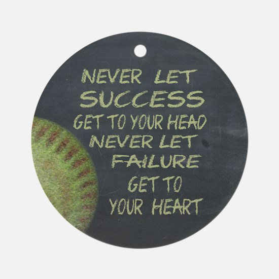 Success Fastpitch Softball Motiva Ornament (Round)
