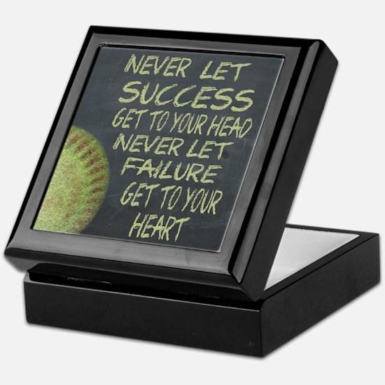 Success Fastpitch Softball Motivation Keepsake Box