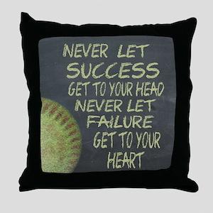 Success Fastpitch Softball Motivation Throw Pillow