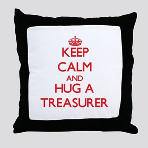 Keep Calm and Hug a Treasurer Throw Pillow