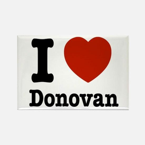 I love Donovan Rectangle Magnet