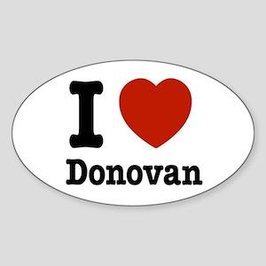 I love Donovan Sticker (Oval)