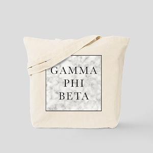 Gamma Phi Beta Marble Tote Bag