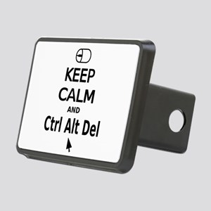 Keep Calm and Control Alt Delete (black) Rectangul