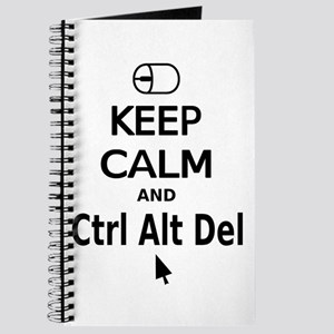 Keep Calm and Control Alt Delete (black) Journal