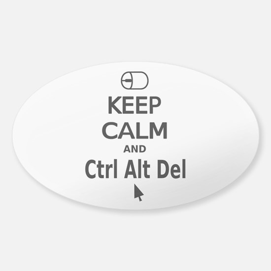 Keep Calm and Control Alt Delete (black) Decal