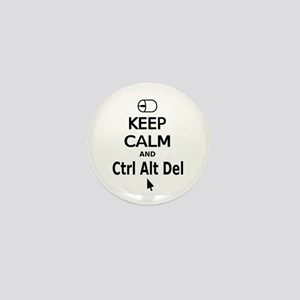Keep Calm and Control Alt Delete (black) Mini Butt