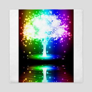 Color Tree Queen Duvet