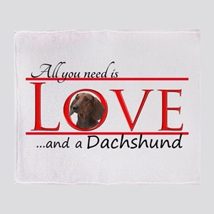 Love a Dachshund Throw Blanket