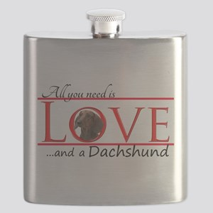 Love a Dachshund Flask