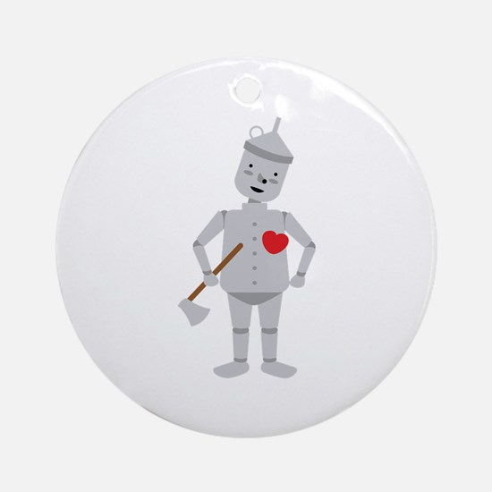 Wizard Of Oz Tin Man Ornament (Round)