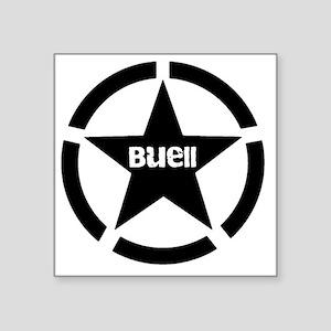 """Buell Star Black Square Sticker 3"""" x 3"""""""