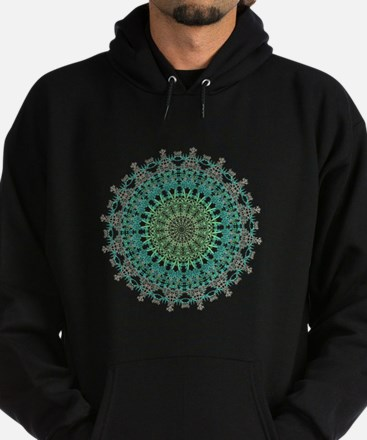 Evergreen Mandala Pattern Hoody