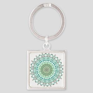 Evergreen Mandala Pattern Keychains